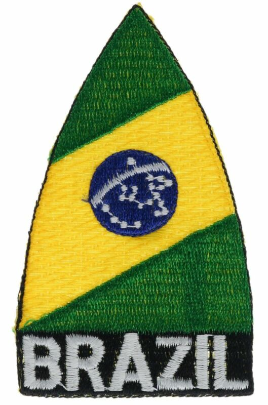 Brazil Country Flag3.5 Inch Embroidered Hat Shoulder Patch F2D16Nk