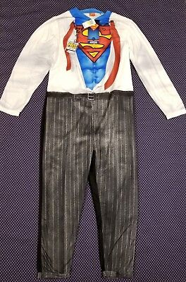Men's Superman Clark Kent Union Suit Halloween Costume MSRP $70 - Clark Kent Costume Halloween