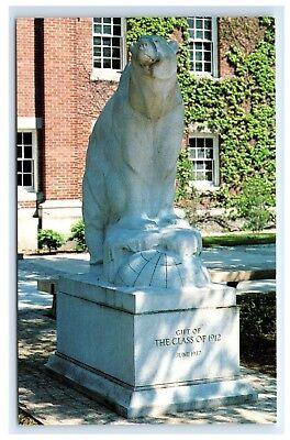 Postcard Bowdoin College Polar Bear Statue, Brunswick, Maine unposted A16
