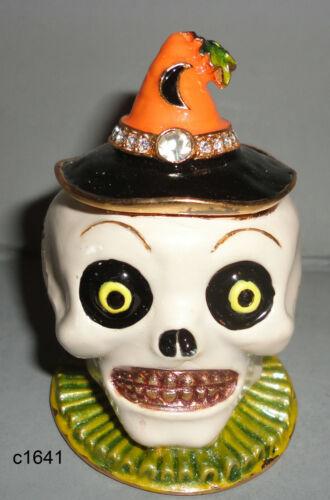 Dept 56 Bejeweled SKULL Halloween New in Box