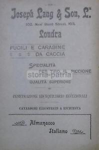 CACCIA-CACCIATORI-CARABINE-TIRO-AL-PICCIONE-LONDRA-LANG-SPORT-DIANA-RENAULT-039-900