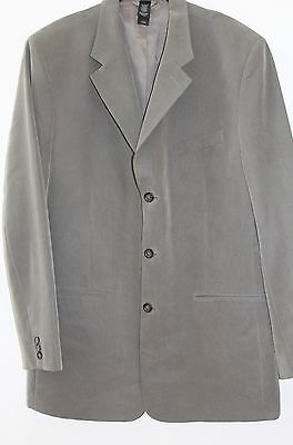 Men's CLAIBORNE Khaki Green Gray Lined Blazer Sz 42L CB1-25