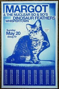 MARGOT & THE NUCLEAR SO AND SO'S 2012 Gig POSTER Portland Oregon Concert