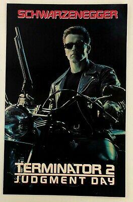 1993 Terminator 2 Judgement Day Movie Video Promo Poster Arnold Schwarzenegger