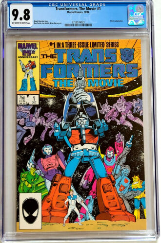 Transformers The Movie #1 CGC 9.8 Marvel Comics 1986 *Only 35 graded 9.8*