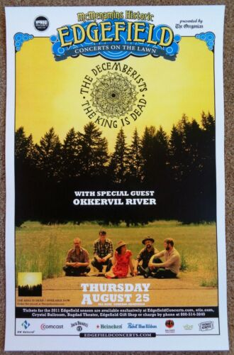 DECEMBERISTS 2011 Gig POSTER Edgefield Portland Oregon Concert