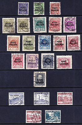 POLAND Port Gdansk 1925 - 1938 Good Used Selection of stamps - (171)