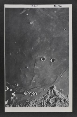 1960 Lunar Moon Map Photo Plato D2-f Mount Wilson Observatory W252 Astronomy