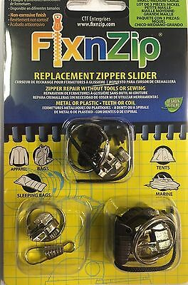 Outdoor Tent Zip Slider Repair- FixnZip 3 Per Pack Small/Medium/Large & Tents u0026 Canopies - Tent Replacement Parts - Trainers4Me