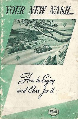 1940 Nash Owner's Original Vintage Manual