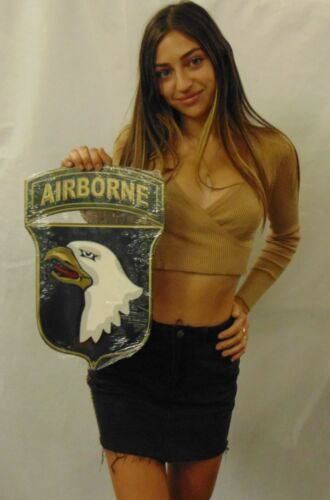 "101st Airborne Division Metal Sign 11 x 16"" Screaming Eagle  See Bri"