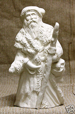 Ceramic Bisque Irish Old World Santa Kimple Mold 2065 U-Paint Ready To Paint