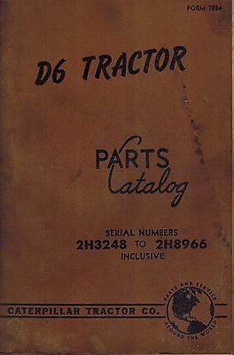 Caterpillar Vintage D7 Crawler Tractor Parts Manual