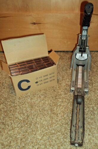 CCC Carton Closing Stapler Machine Clincher HC150 with C 5/8 Box Of Staples EUC