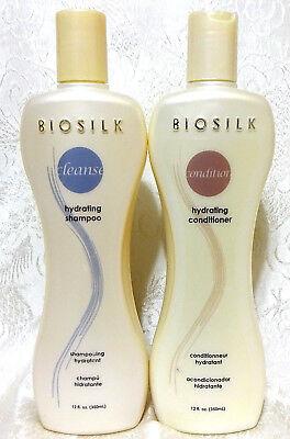 Biosilk HYDRATING Shampoo & Conditioner, 12 oz, Some Broken Seals -