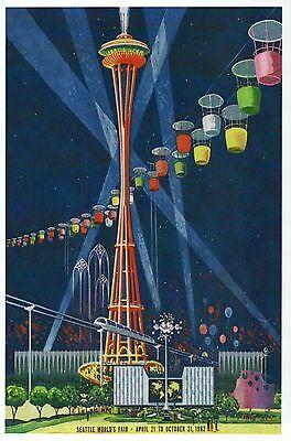Space Needle & Monorail, Seattle World's Fair Washington State - Modern Postcard