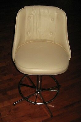 ADMIRAL INDUSTRIES Swivel Chair adjustable height beautiful white vinyl + (Admiral Chair)