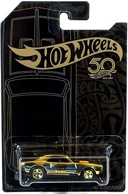 Hot Wheels 50th Anniversary Black & Gold '67 Camaro CHASE Car with Protect Case