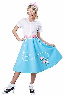 50's Poodle Skirt Women Adult Costume Blue