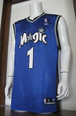 L Men Reebok Tracy McGrady Orlando Magic NBA Basketball Jersey Blue large EUC