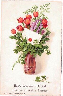 Vintage Postcard Every Command God Crowned Promise Postmark To Tiller Lymington