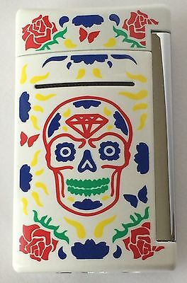 S.T. Dupont MiniJet Torch Lighter, White Day Of The Dead, 10085, New In Box