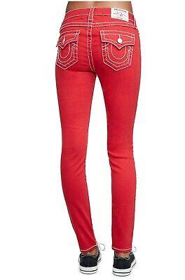 new Super Skinny Red True Religion Women Jeans Skinny SIZE 30 BT NAT 200474