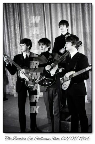 THE BEATLES ED SULLIVAN 02/09/1964 PRINT FROM NEGATIVE (comes in 4 sizes)