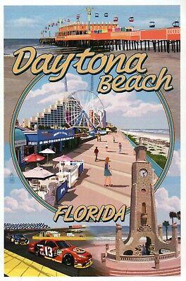 Daytona Beach Florida Montage Nascar International Speedway etc. Modern Postcard