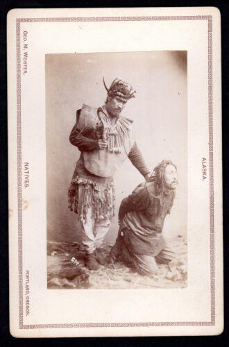 ATTN INDIAN HISTORY COLLECTORS! ~ c.1890 ALASKA TLINGIT SHAMAN CEREMONY~DeGROFF