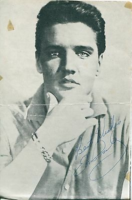 """ELVIS PRESLEY AWESOME STUNNING AUTOGRAPH SIGNED  PHOTO MINT  5"""" X 7"""""""