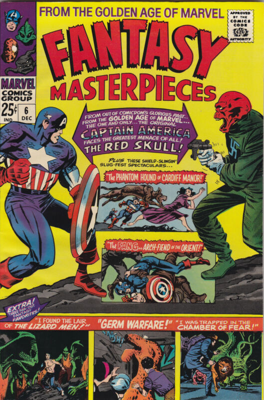 Fantasy Masterpieces 6 HG 1966 Marvel Comics/Red Skull/Captain America FREE SHIP