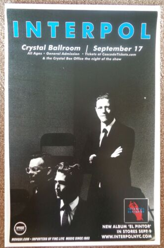 INTERPOL 2014 Gig POSTER Portland Oregon Concert