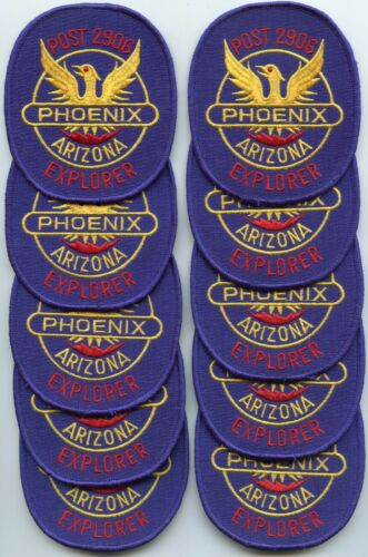PHOENIX ARIZONA AZ Trade Stock 10 Police Patches EXPLORER POST 2906 POLICE PATCH