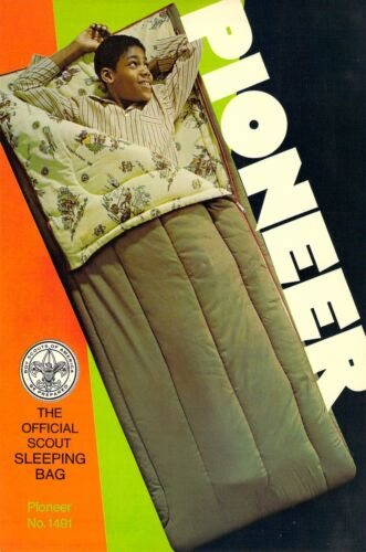 PIONEER Official Sleeping Bag AD  Boy Scouts of America 6x9 postcard AD BACK