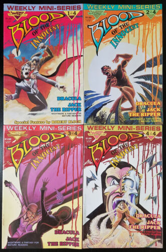 Blood of the Innocent #1-4 Complete Set (1986, WaRP) 2 3 Dracula Jack the Ripper