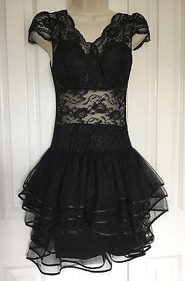 Custom Made Fancy Dress Party Clubwear Dressing Up Costume Goth Pank Size UK 6 8