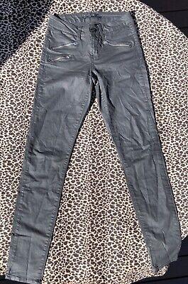 """Jag """"Bombshell"""" Black Jeans Sz 6 Waxed Demin Zips EUC Super Skinny *VERY SEXY*!!"""