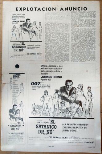 007: DR. NO, Sean Connery, Ursula Andress, 1962, Pressbook 660