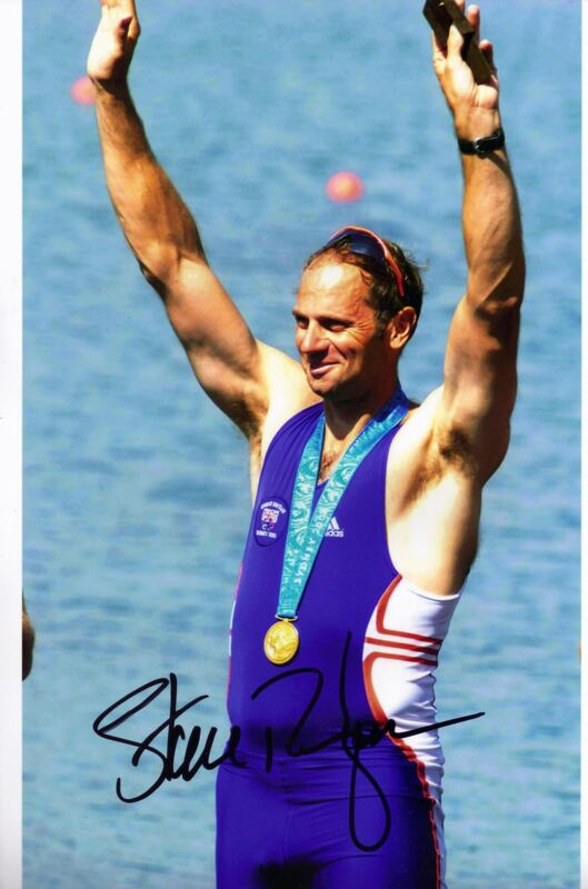 Olympic Memorabilia Other Olympic Memorabilia Steve Redgrave Genuine Hand Signed Autograph In Person 12x8 Photo Sydney 2000