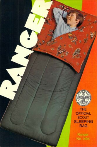 RANGER Official Sleeping Bag AD  Boy Scouts of America 6x9 postcard AD BACK