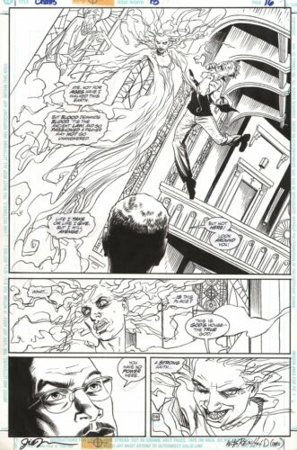 SIGNED Challengers of the Unknown #13 Original Art Splash Page ~ Jill Thompson
