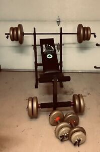 Bench press York pliable et 160 lbs