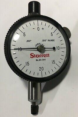 ".001"" Grad Starrett Dial Indicators 81-141 .250 range Dial Reading 0-50-0"