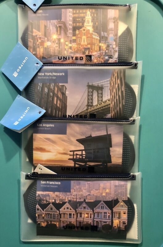 4 UNITED AIRLINES CITY AMENITY KITS