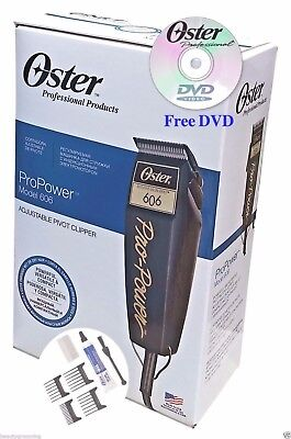 Usado, Oster 220v Pro Power 606 Pivot Clipper Adjustable Blade 76606-950 FREE DVD New segunda mano  Embacar hacia Argentina