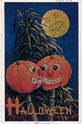 Halloween Bernhardt Wall Romantic Laughing JOLs SMiling Moon 1910 - Romantic Halloween