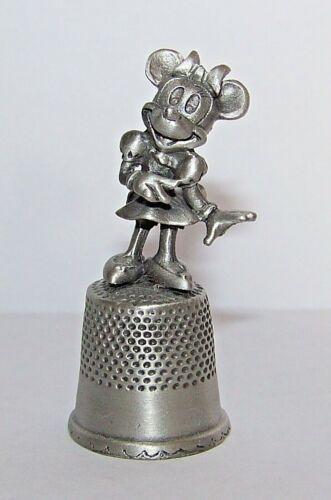 "Walt Disney Minnie Mouse 1 1/2"" Pewter Thimble"