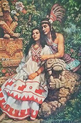 Traditional Mexican Calendar Art Jesus Helguera Aztec Nezahualcoyotl warrior
