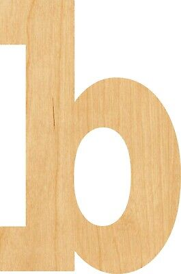 Lowercase Letter B #0882 Laser Cut Out Wood Shape Craft Supply - Woodcraft - Lowercase B